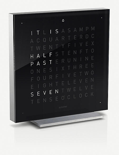 QLOCKTWO Touch Black Ice Tea acrylic clock 13.5cm