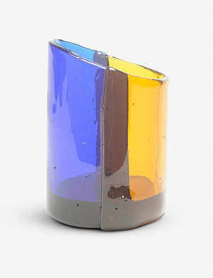 CORSI DESIGN Asymmetric two-tone resin vase
