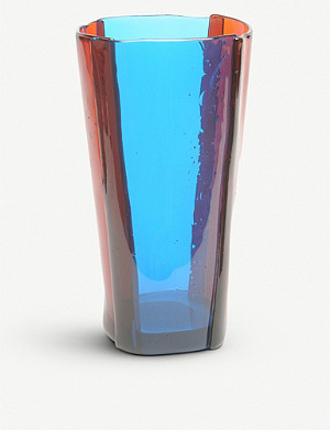 CORSI DESIGN Multi-coloured stripe resin vase