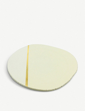AGNES SANDAHL Terra ceramic and gold-plated plate 19cm
