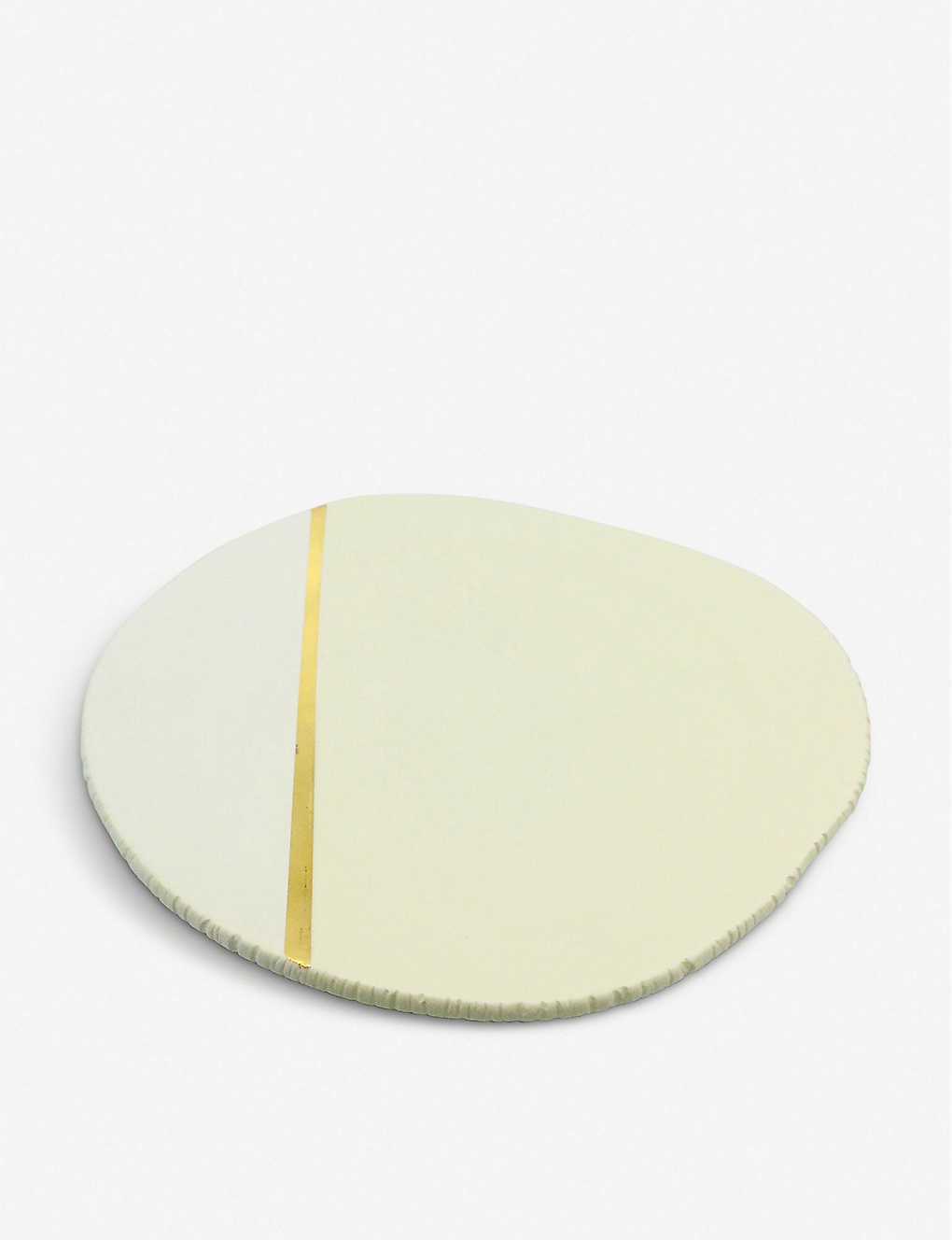 AGNES SANDAHL: Terra ceramic and gold-plated plate 19cm