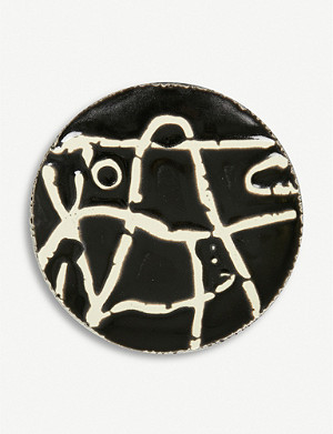 AGNES SANDAHL Abstract ceramic plate