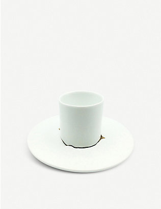 AGNES SANDAHL: Terra cup and saucer set