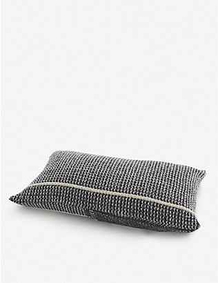 TEIXIDORS: Time ecological merino-wool-blend cushion 60x60cm
