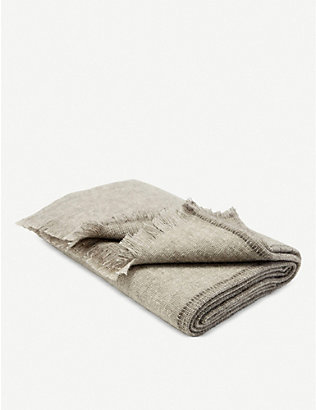 TEIXIDORS: Gobi yak and ecological merino-wool blend throw 140x180cm