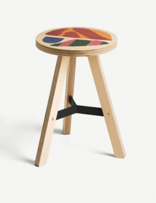 UNCOMMON PROJECTS JOHN BOOTH Painted wooden stool 44cm