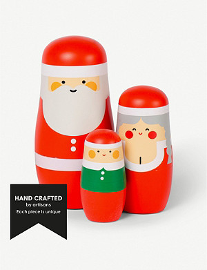 SPRING COPENHAGEN Expressions Christmas nesting dolls set of three