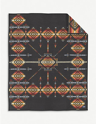 PENDLETON: Pueblo Dwelling wool and cotton-blend blanket 163cm x 203cm