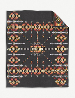 PENDLETON Pueblo Dwelling wool and cotton-blend blanket 163cm x 203cm