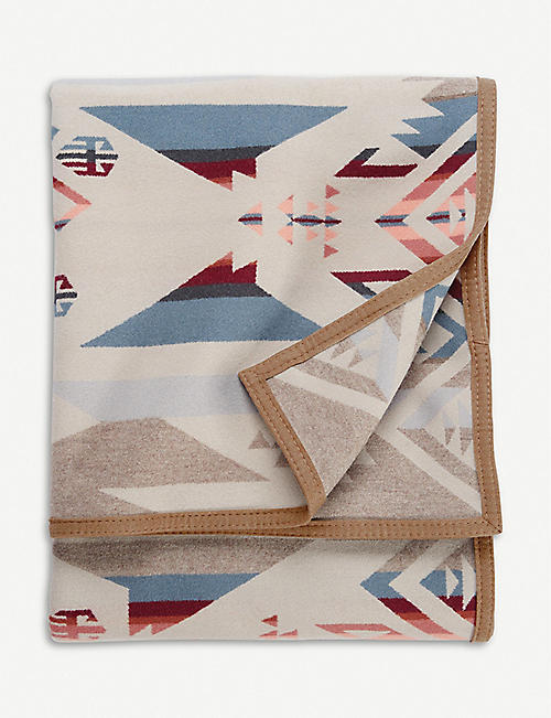 PENDLETON White Sands wool and cotton-blend blanket 163cm x 203cm
