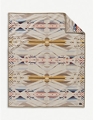 PENDLETON: White Sands wool and cotton-blend blanket 163cm x 203cm