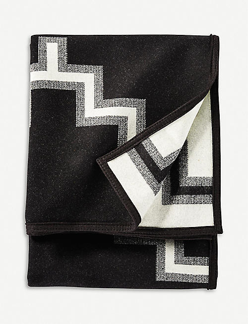 PENDLETON Kiva Steps wool and cotton-blend blanket 163cm x 203cm