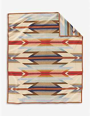 PENDLETON: Wyeth wool and cotton-blend blanket 163cm x 203cm