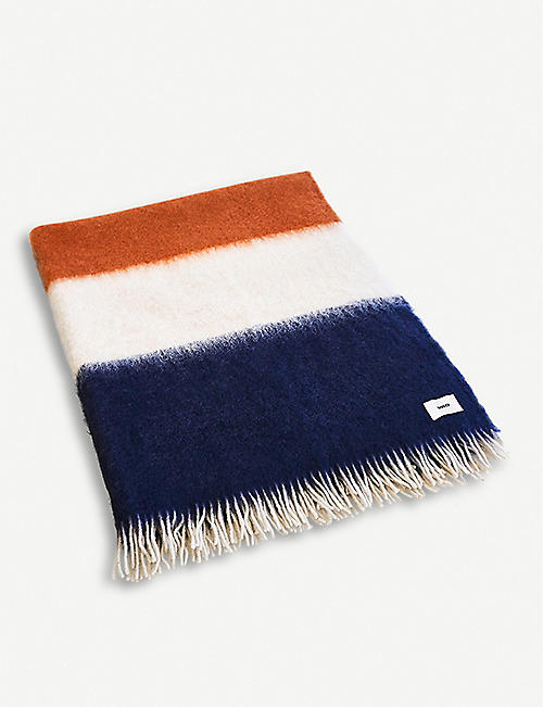 VISO Striped mohair blanket 200 x 135cm