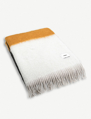 VISO Striped mohair blanket 200cm x 135cm