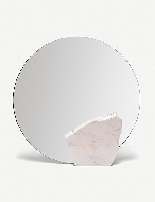 GOODWASTE Reclaimed marble mirror 30cm