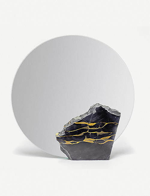 GOODWASTE: Reclaimed marble mirror 30cm