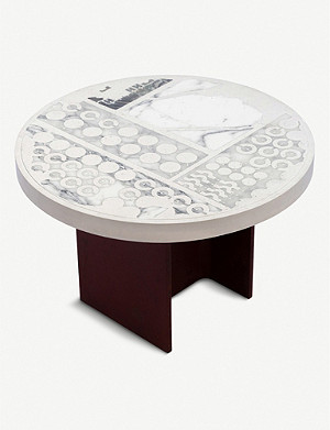 GOODWASTE Reclaimed marble, Jesmonite and steel round table