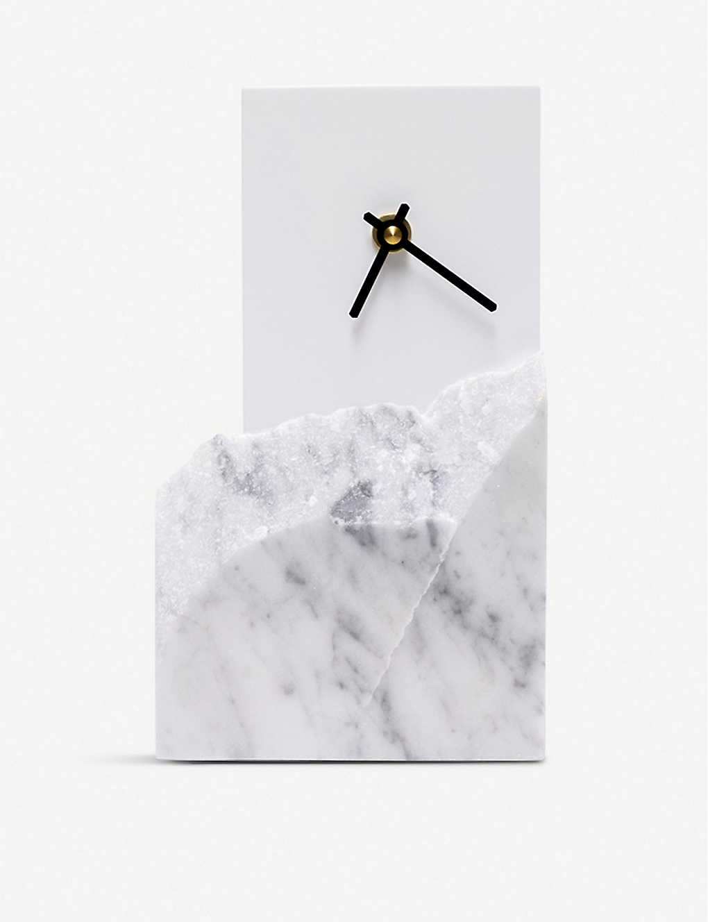 GOODWASTE: Minimal waste-corian and waste-marble table clock 22cm