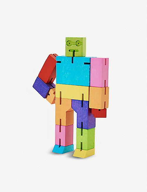 AREAWARE: Small Cubebot wooden puzzle