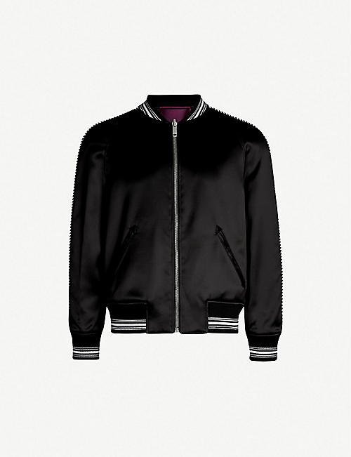 GIVENCHY Embroidered reversible satin-twill bomber jacket d0c20dc3a2d9