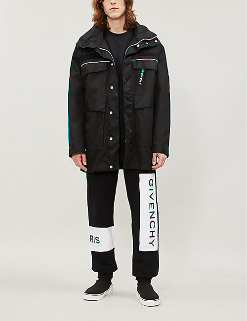 GIVENCHY Contrast-piped shell jacket
