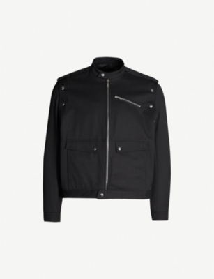 GIVENCHY High-neck cotton-twill jacket