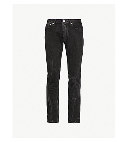 GIVENCHY Faded slim-fit tapered jeans (Black