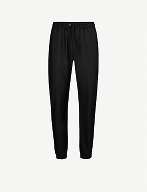 GIVENCHY Wool and mohair-blend jogging bottoms