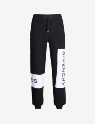 GIVENCHY Logo-print cotton jogging bottoms