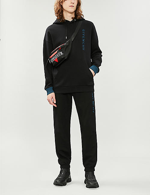 GIVENCHY Logo-embroidered tapered cotton-jersey jogging bottoms