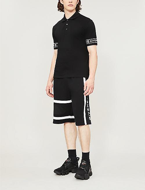 cf274fd7 GIVENCHY Logo-print side-stripe cotton-jersey shorts. NEW SEASON. Quick Shop