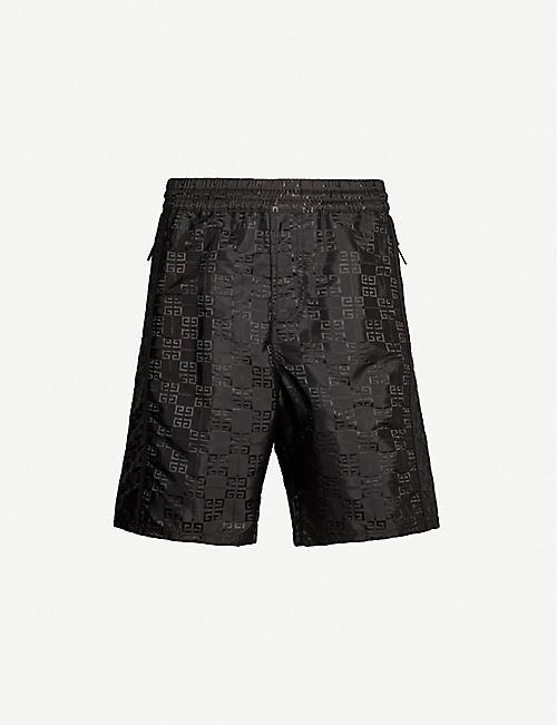 53f0d8b07bd GIVENCHY Logo-print shell shorts
