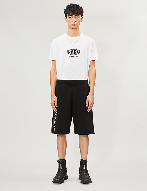 GIVENCHY Logo-print cotton-jersey shorts