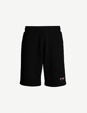 GIVENCHY Logo-embroidered cotton-jersey shorts