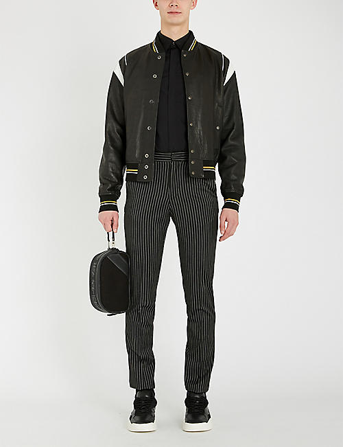 GIVENCHY Star-embroidered slim-fit cotton shirt