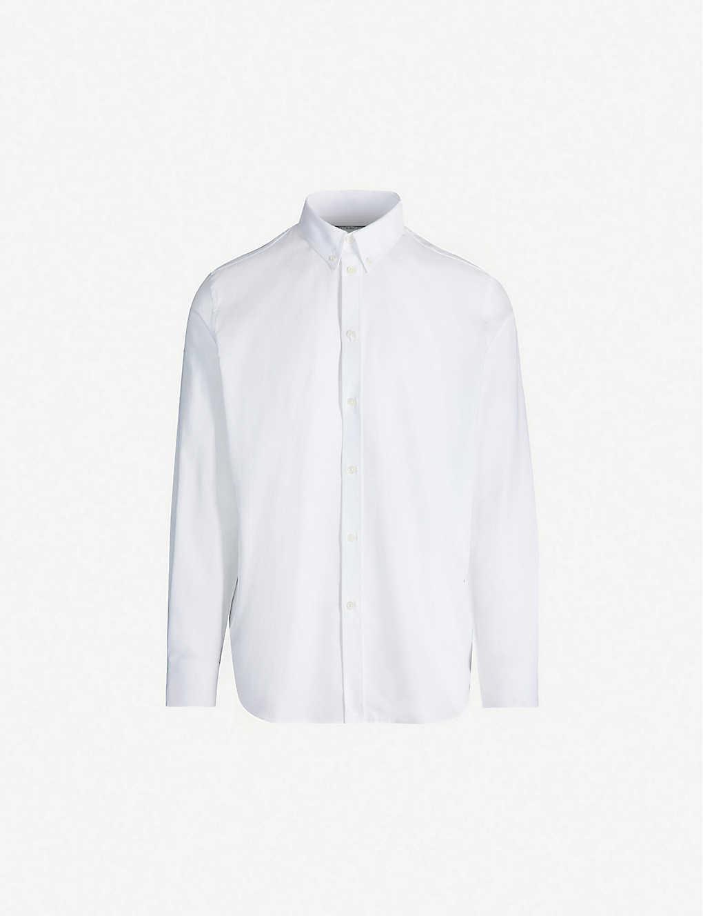 Logo-print regular-fit cotton shirt