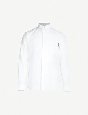 GIVENCHY Logo-print contemporary-fit cotton shirt