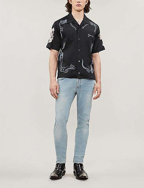 GIVENCHY Graphic-print relaxed-fit cotton shirt