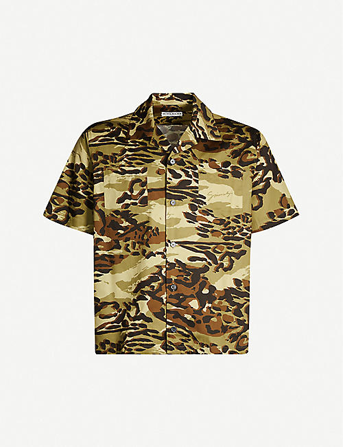 GIVENCHY Camouflage relaxed-fit cotton poplin shirt