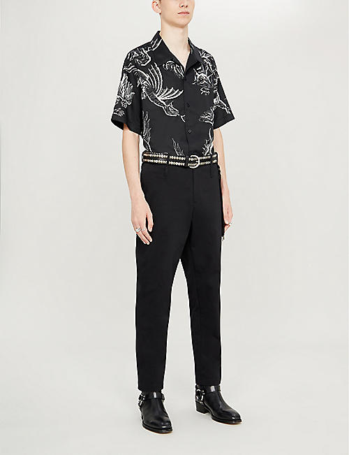 GIVENCHY Icarus Hawaiian regular-fit cotton shirt