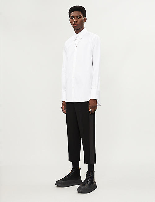 GIVENCHY Logo-print formal-fit cotton shirt