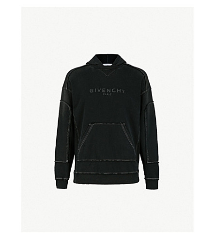 516cfa8b GIVENCHY - Distressed cotton-jersey hoody | Selfridges.com