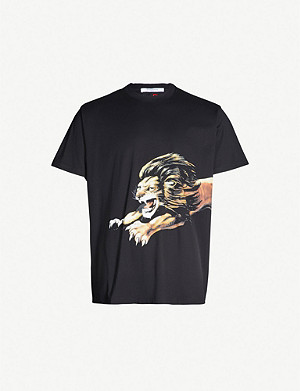 GIVENCHY Lion-print cotton-jersey T-shirt