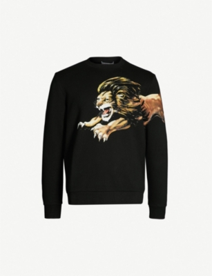 GIVENCHY Lion-print cotton-jersey sweatshirt