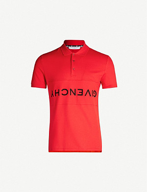 GIVENCHY Upside-down logo cotton polo shirt