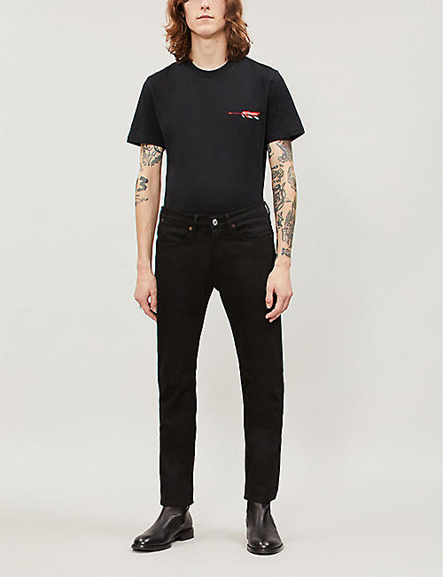 GIVENCHY Logo-embroidered cotton-jersey T-shirt