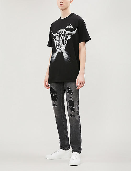 GIVENCHY Taurus printed cotton-jersey T-shirt
