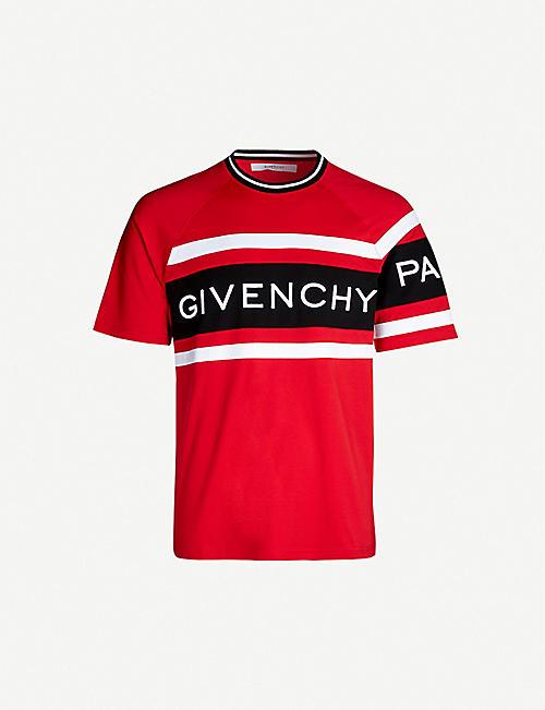 7340c512c58715 GIVENCHY Logo-print cotton-jersey T-shirt