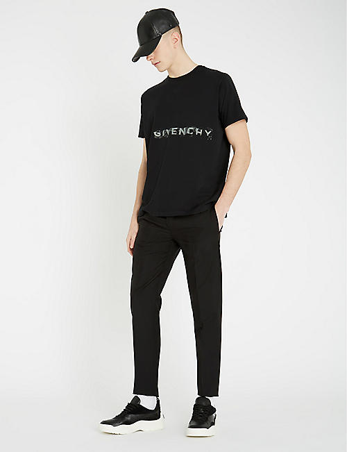 GIVENCHY Logo-print cotton-jersey T-shirt